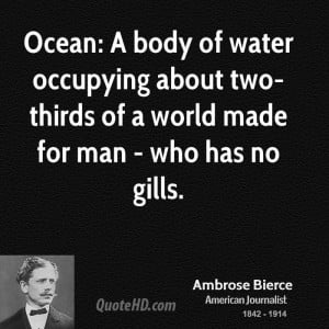 Ocean: A body of water occupying about two-thirds of a world made for ...