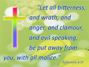 ... And Evil Speaking Be Put Away From You, With All Malice - Bible Quote