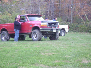 My nephew Mikey's big red truck