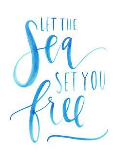 ... ocean beach font summer quotes printabl sea quotes sea set beach trips