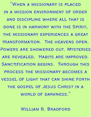 The Spiritual Growth of a Missionary