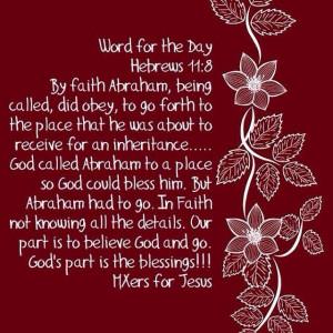 Verse Hebrews 11:8