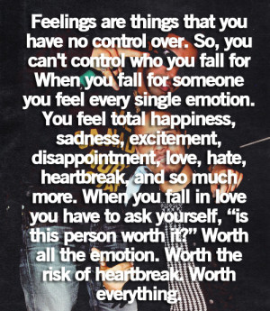 quote, feelings, control, fall, single, emotion, disappointment, love ...