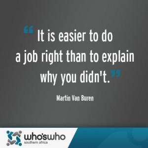 Martin Van Buren quote