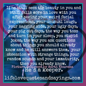 If He Sees The Beauty In You..