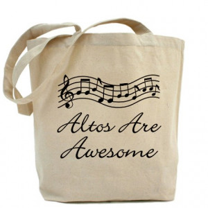 Alto Gifts Bags Totes Singer Gift Funny Tote Bag