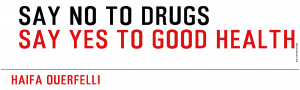 title say no to drugs text say no to drugs say yes to good health ...