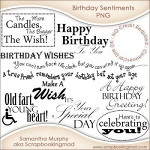 Home :: Word Art :: 12 Birthday Sentiments Word Art PNG - CU OK