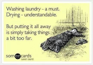 ... you telling procrastinating right now with all these laundry pins