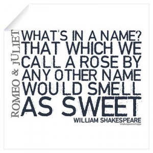 ... > Wall Art > Wall Decals > Romeo & Juliet Rose Quote Wall Decal