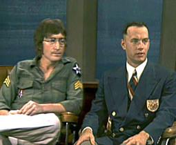 Forrest and John Lennon on the John Cavett show