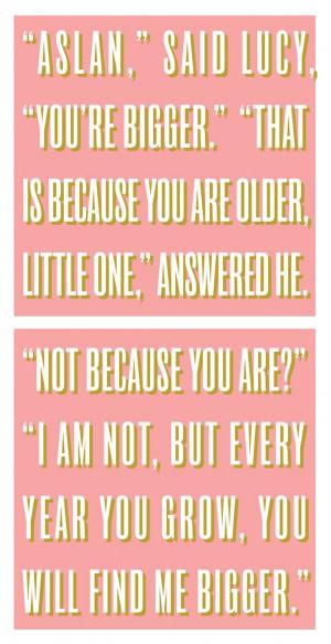 Narnia Prince Caspian CS Lewis Quotes