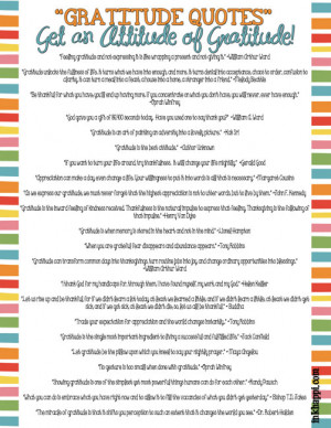 42 wonderful gratitude quotes printable as well as many other free ...