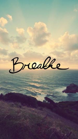 Breathe iPhone Wallpaper