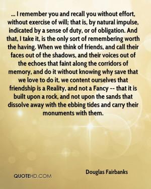 Douglas Fairbanks Friendship Quotes