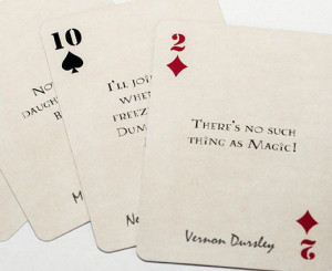 Harry Potter Quote playing cards - oooh! Great stocking stuffer idea ...