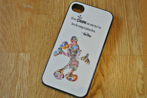 Custom Made Walt Disney Dreams Quote Mickey Mouse Character Montage ...