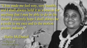 Quote of the Day: Hattie McDaniel on Her Academy Award
