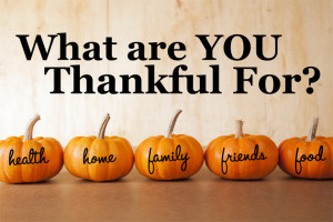 ... and reflect on what you are thankful for. What are YOU thankful for