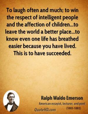 Ralph Waldo Emerson Life Quotes