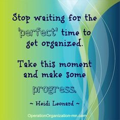 operation organization: Overcoming Obstacles In Organizing :: No Time ...