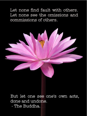 ... . But Let One See One's Own Acts, Done And Undone. - The Buddha