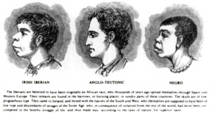 hideous 1899 illustration from Harper's Weekly, comparing the facial ...