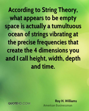 According to String Theory, what appears to be empty space is actually ...