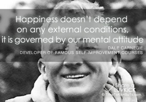 Dale Carnegie Quote: Happiness Is Governed By Mental Attitude