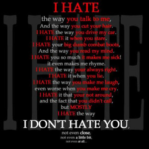 Quote Love on Hate You I Miss You I Love You