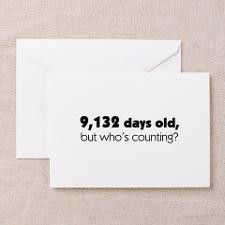 Happy 25th Birthday - Pink Argyle Greeting Card