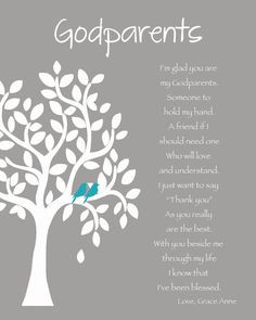 GODPARENTS personalized gift - 8x10 Print - Custom Gift for Godparents ...