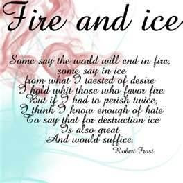 Robert Frost Fire and Ice
