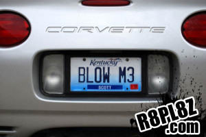 This plate looks even better on the back of a Ford GT