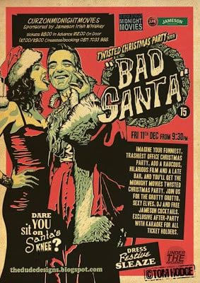 Curzon Cinemas Midnight Movies Flyer, poster, Labyrinth, Bad Santa