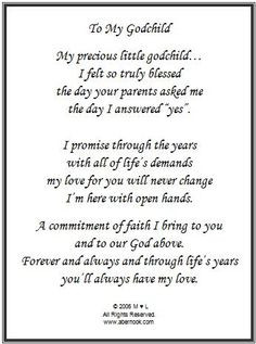 Thank You For Being My Godparent Quotes ~ PROUD GodMother on Pinterest ...