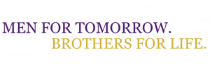 men for tomorrow, brothers for life-vinyl wall quote