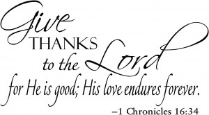 Religious Sayings - Give Thanks