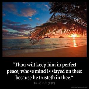 Isaiah 26:3 Inspirational Image