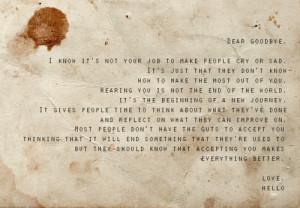 ... goodbye cry and end say no goodbye nice quote tearful goodbye goodbye