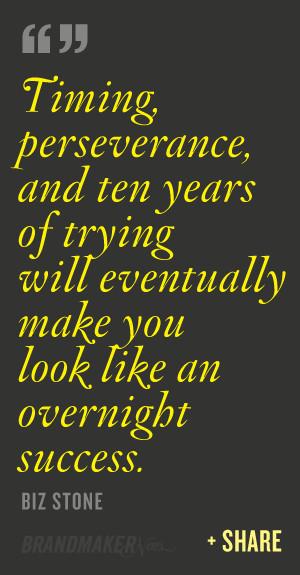 ... will eventually make you look like an overnight success – Biz Stone