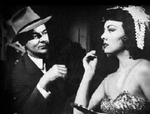 Cornel Wilde & Helene Stanton as Rita in The Big Combo (1955)