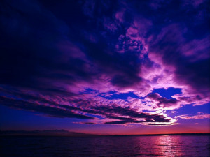 ... desktop wallpaper of scenic places around the world: Purple Sky