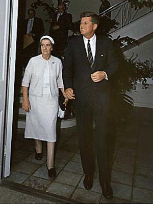 Golda Meir with John F. Kennedy