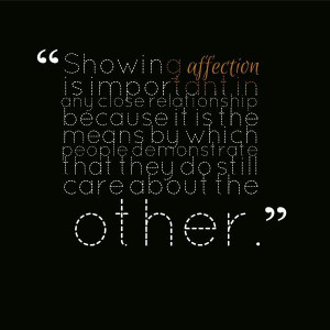 Affection quote