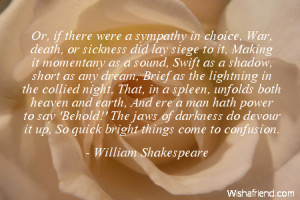 sympathy-Or, if there were a sympathy in choice, War, death, or ...