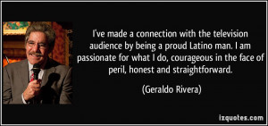 ve made a connection with the television audience by being a proud ...