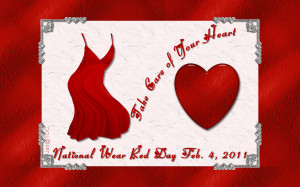 February is American Heart Month and tomorrow is National Wear Red Day ...