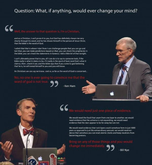 What Would Change Your Mind? Exact Quotes from #HamOnNye