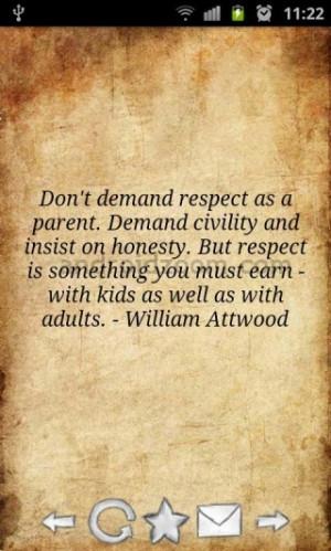 Don't demand respect.....